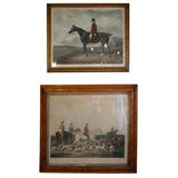 Antique colored mezzotint and hand-colored engraving