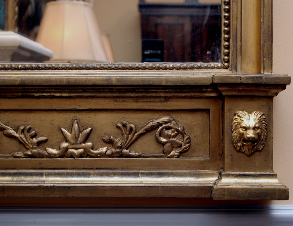 Italian Neoclassical Gilt Mirror Attributed to Giovan Battista Dolci In Good Condition For Sale In Norwalk, CT