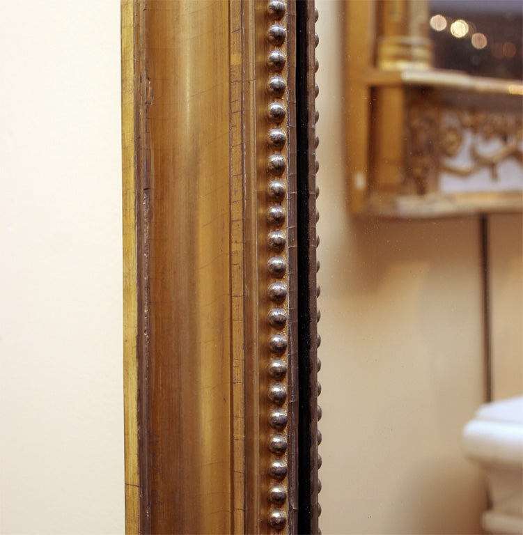 19th Century Italian Neoclassical Gilt Mirror Attributed to Giovan Battista Dolci For Sale