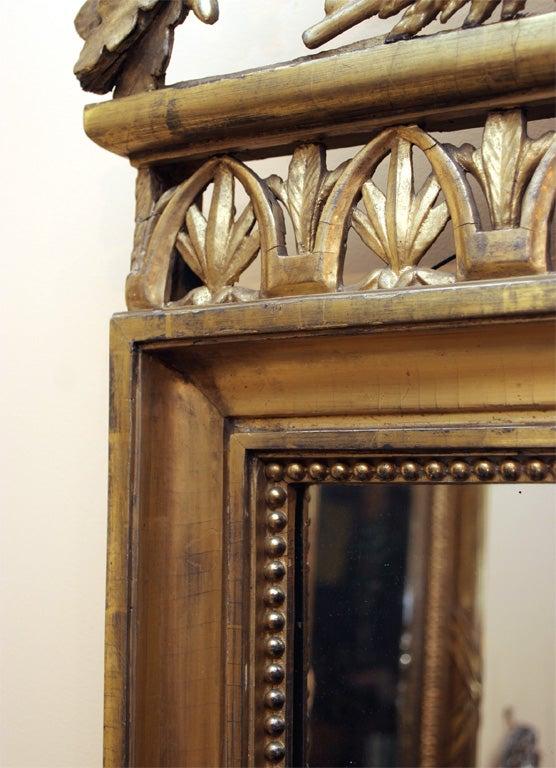Italian Neoclassical Gilt Mirror Attributed to Giovan Battista Dolci For Sale 3