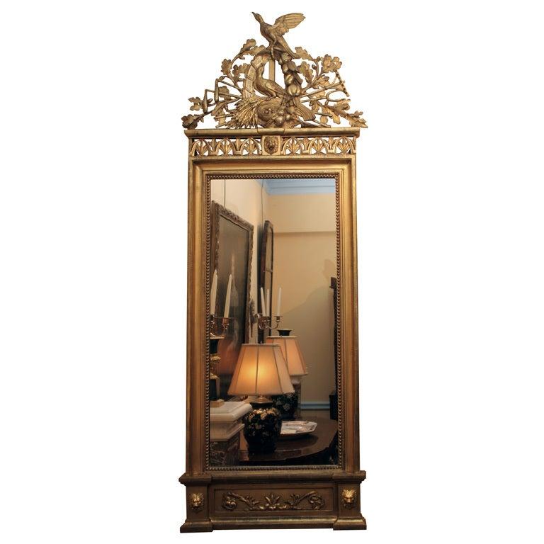 Italian Neoclassical Gilt Mirror Attributed to Giovan Battista Dolci For Sale