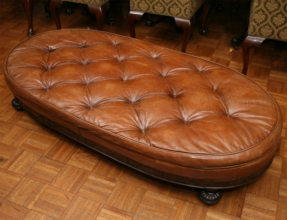 Swell A Large Oval Ottoman At 1Stdibs Ncnpc Chair Design For Home Ncnpcorg
