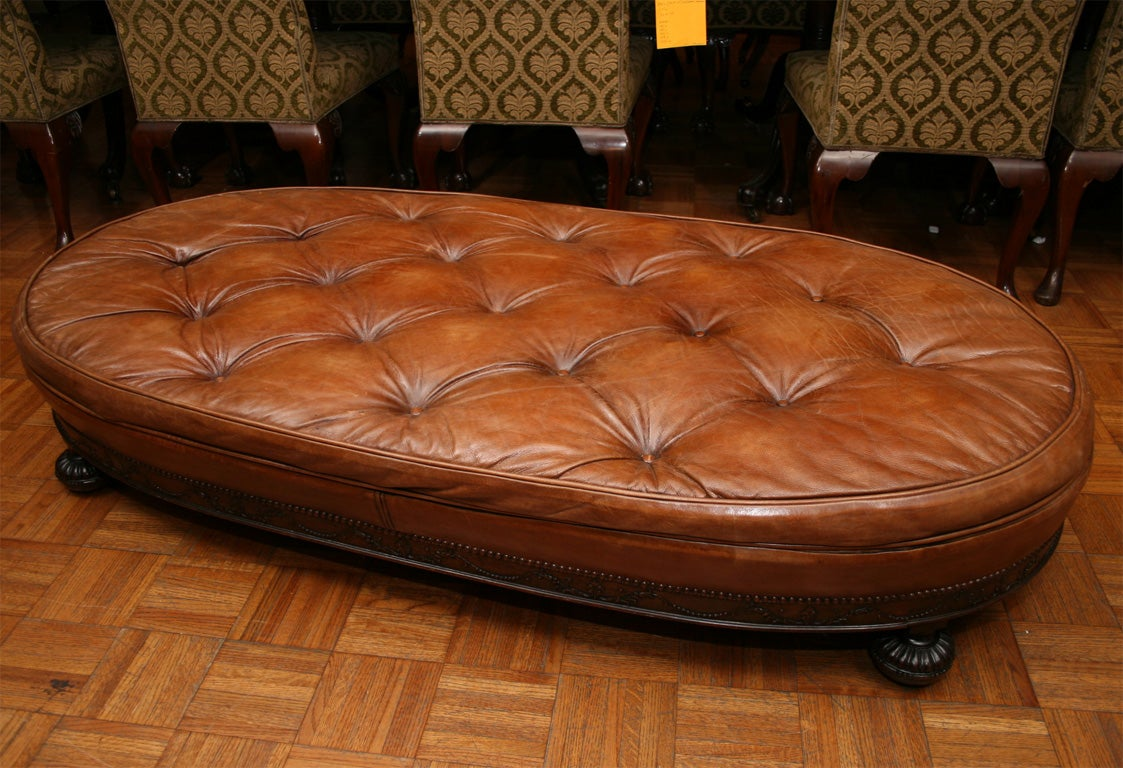 A Large Oval Ottoman At 1stdibs