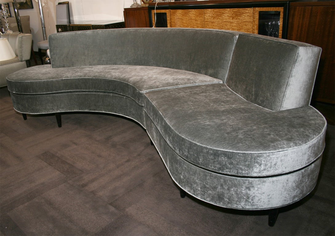 1940's Modernist Kidney Shaped Sectional Sofa 2