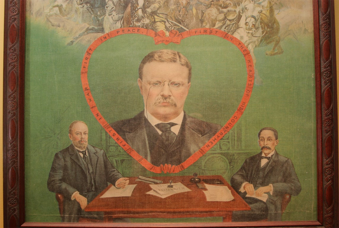 20th Century Political Banner:  Theodore Roosevelt For Sale