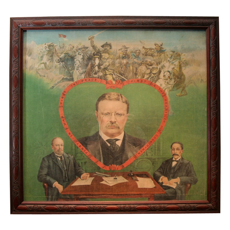 Political Banner:  Theodore Roosevelt For Sale