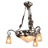 Antique Chandelier. French Art Deco Chandelier