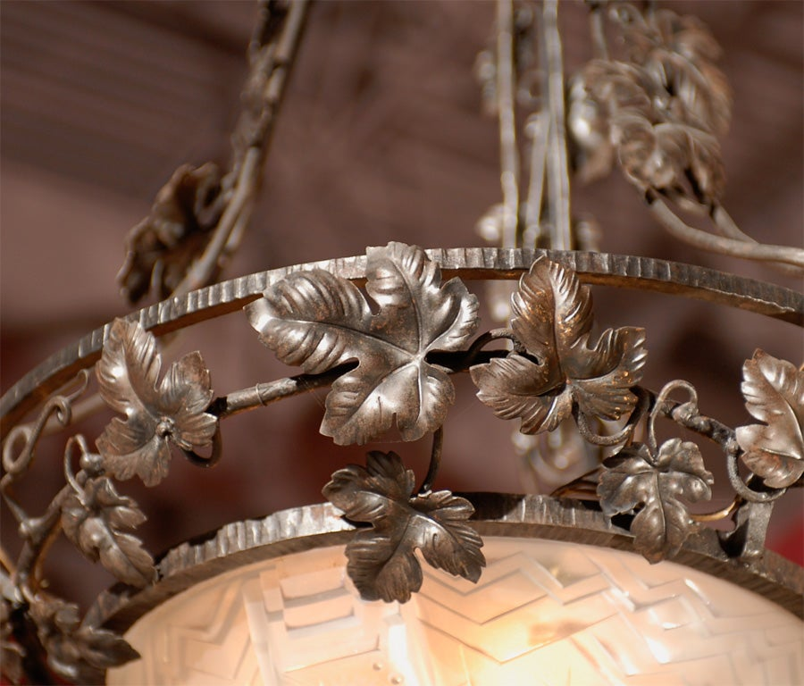 Antique Chandelier. French Art Deco Chandelier For Sale 3
