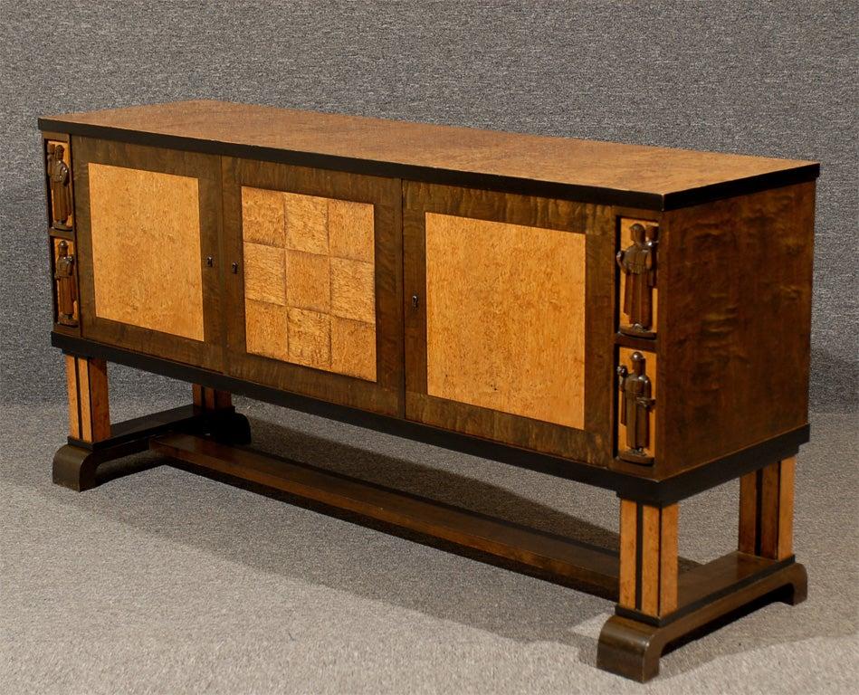 Art Deco Sideboard Attributed To Eliel Saarinen For Sale