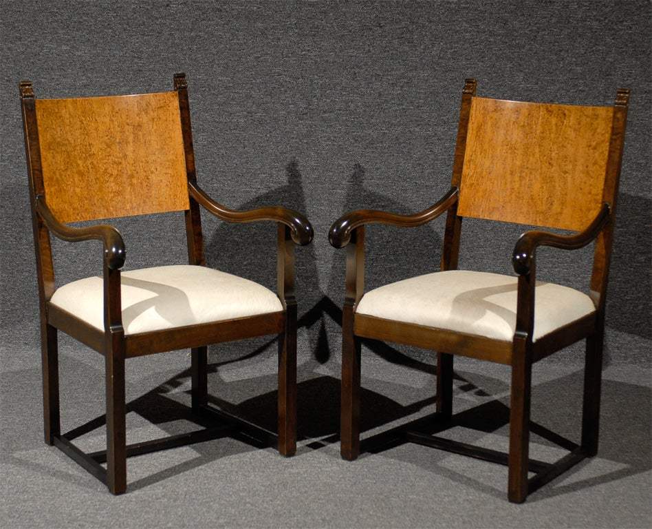 Set of Eight Art Deco Dining Chairs Attributed to Eliel Saarinen For Sale 4
