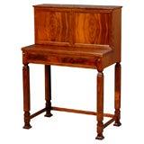 Swedish Art Deco Small Mahogany Secretaire Writing Desk