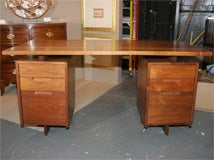 Double Pedestal Desk  By George Nakashima image 2