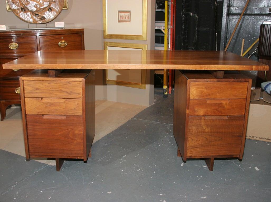 Double Pedestal Desk  By George Nakashima 2