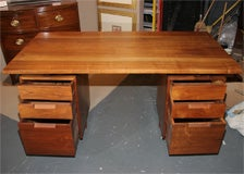 american studio movement desk by george nakashima two pedestals with