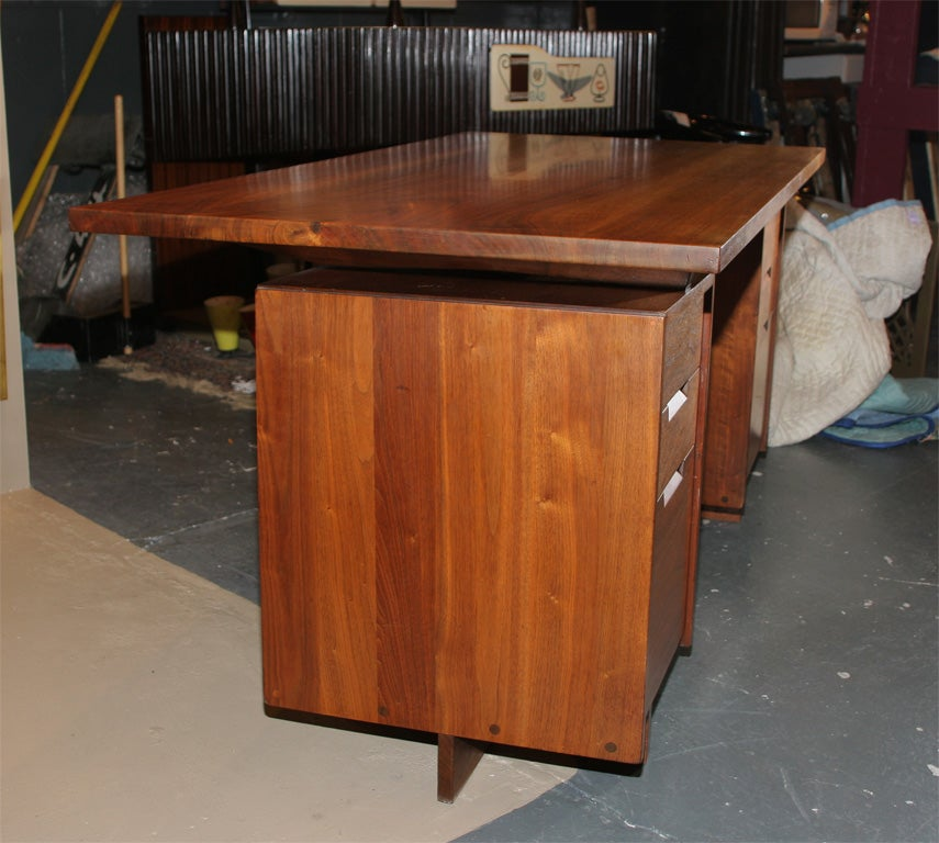 Double Pedestal Desk  By George Nakashima 6