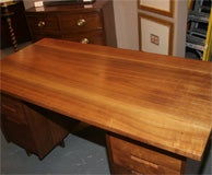 Double Pedestal Desk  By George Nakashima image 9