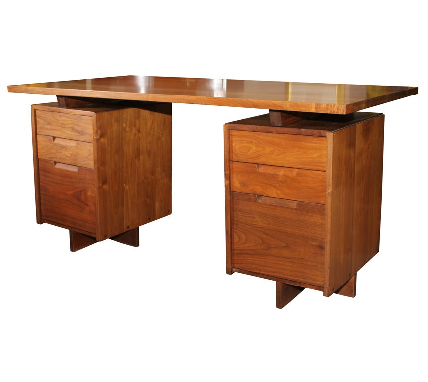 Double Pedestal Desk  By George Nakashima