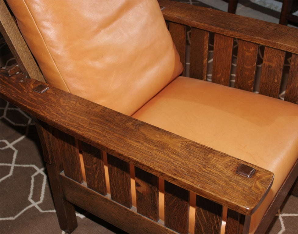 L&JG Stickley Mission Reclining Morris Chair For Sale At