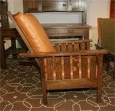 L JG Stickley Mission Reclining Morris Chair Image 5