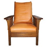 L&JG Stickley Mission Reclining Morris Chair