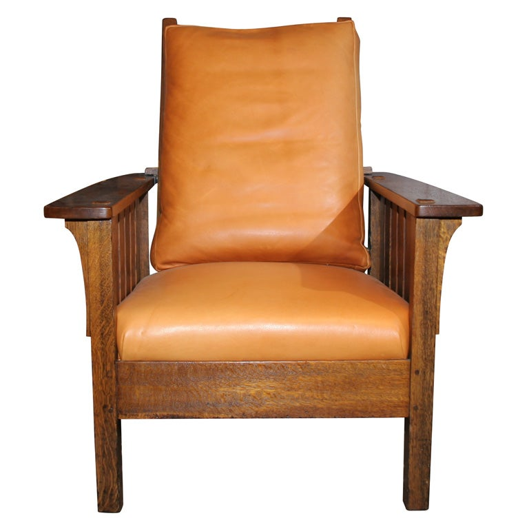 Lu0026JG Stickley Mission Reclining Morris Chair 1