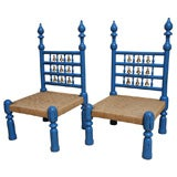 Pair of Vintage Nepalese Temple Chairs