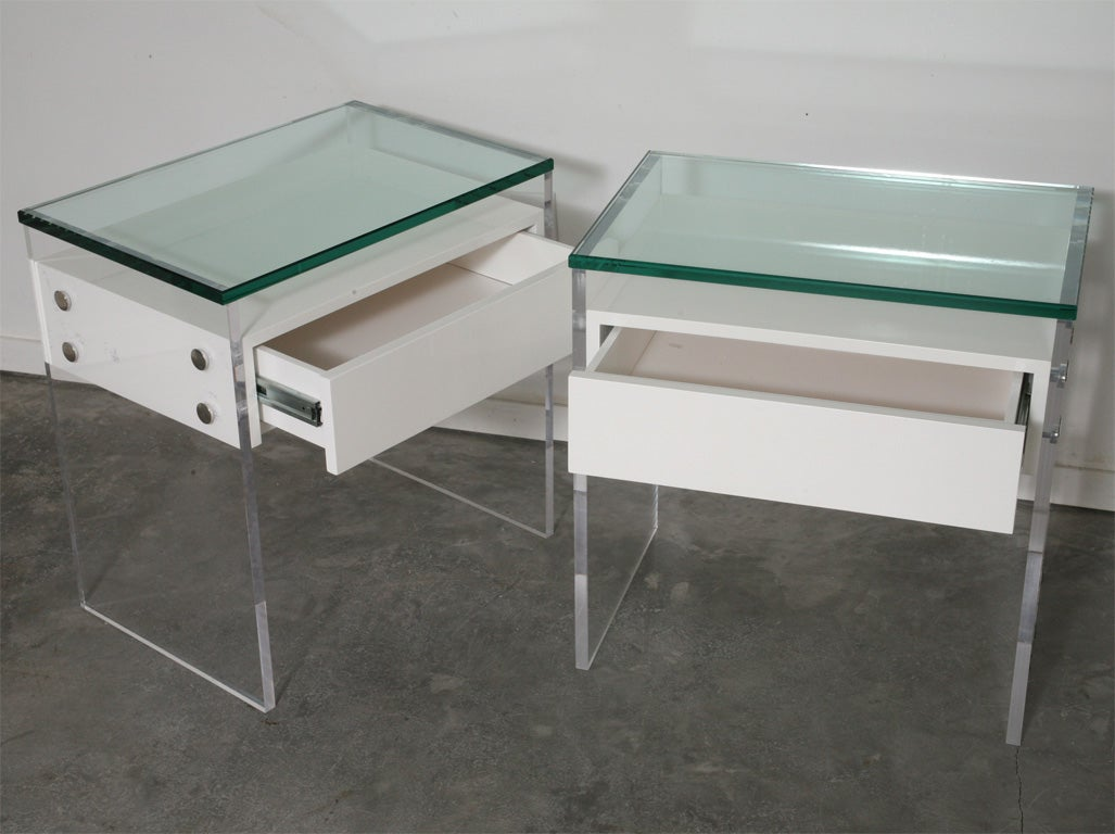 Modern lucite floating nightstands for sale at 1stdibs for Perspex furniture