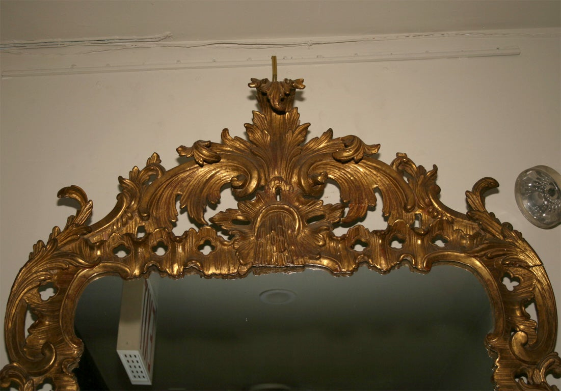 18th Century and Earlier George II Giltwood Mirror, circa 1750 For Sale