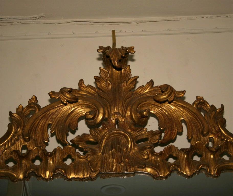 Wood George II Giltwood Mirror, circa 1750 For Sale