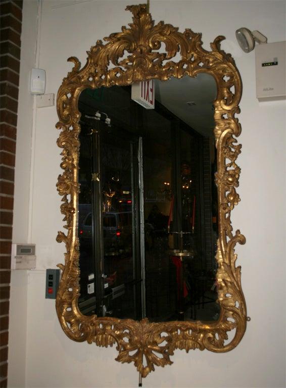 English George II Giltwood Mirror, circa 1750 For Sale