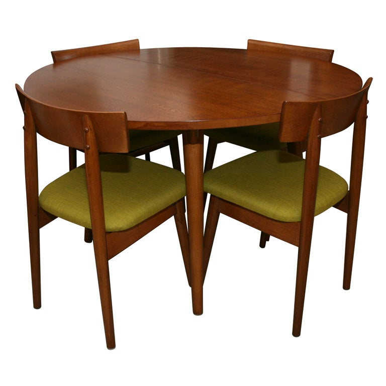 1950s dining table with 4 chairs by conant ballrussell wright for sale - 4 Chair Dining Table