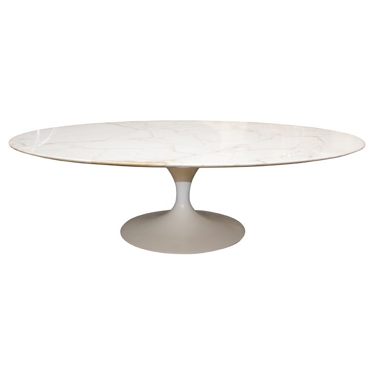Eero Saarinen Oval Marble Coffee Table For Knoll At 1stdibs