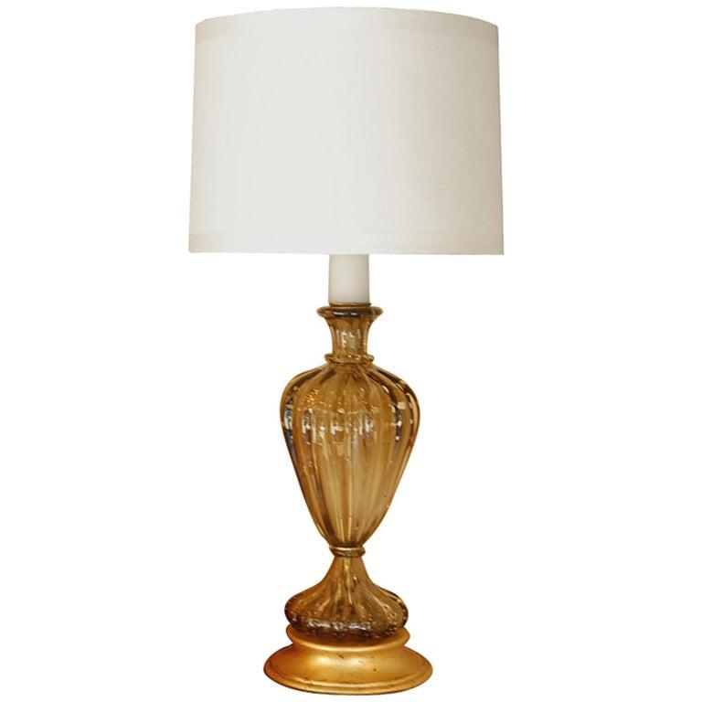 Single Murano Glass Table Lamp by Seguso