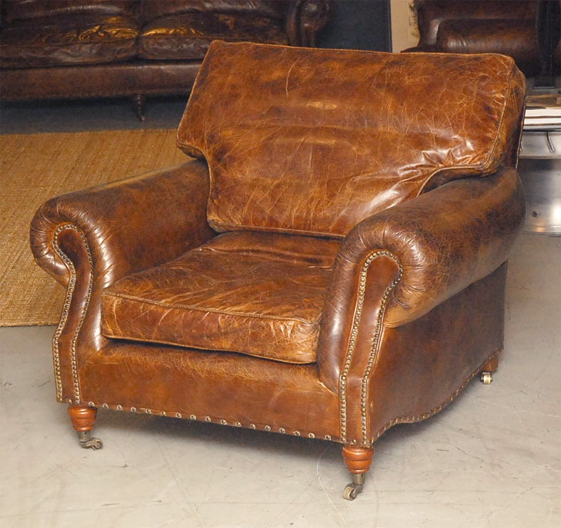 distressed leather club chair distressed italian leather club chairs at 1stdibs 6786