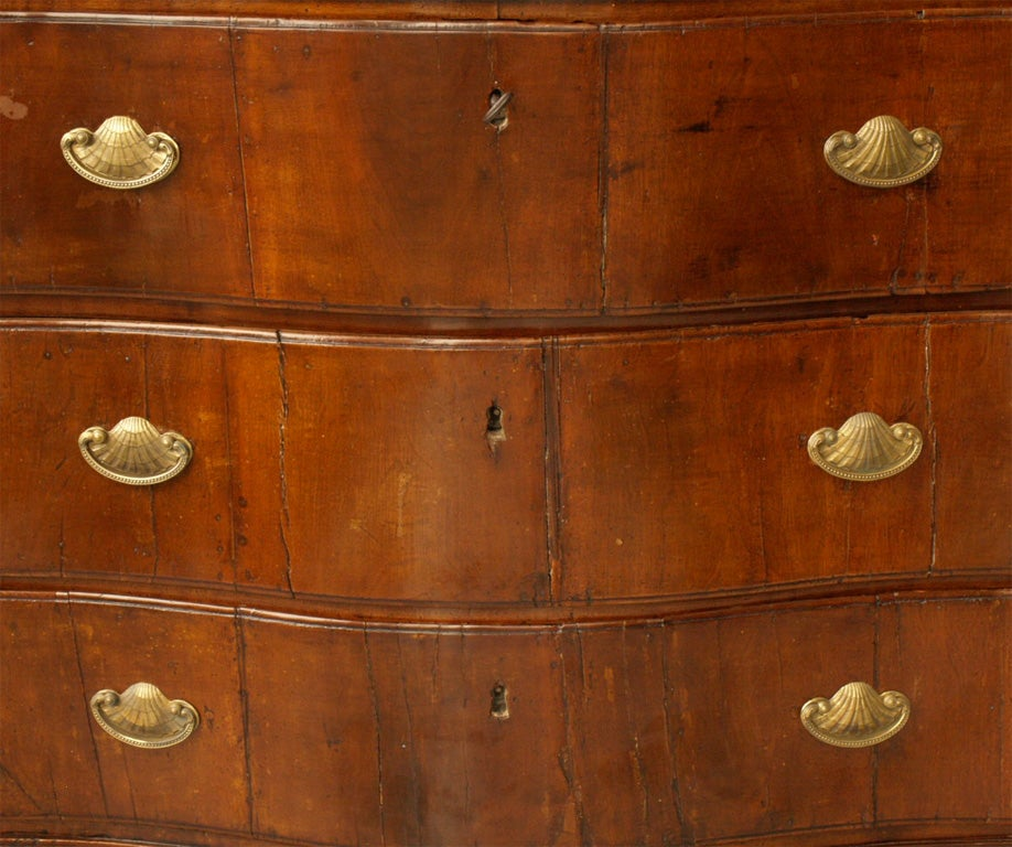 Italian 18th c ITALIAN WALNUT COMMODE For Sale