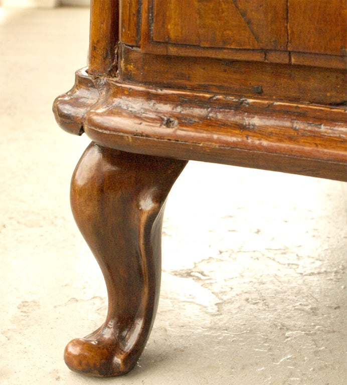 Wood 18th c ITALIAN WALNUT COMMODE For Sale