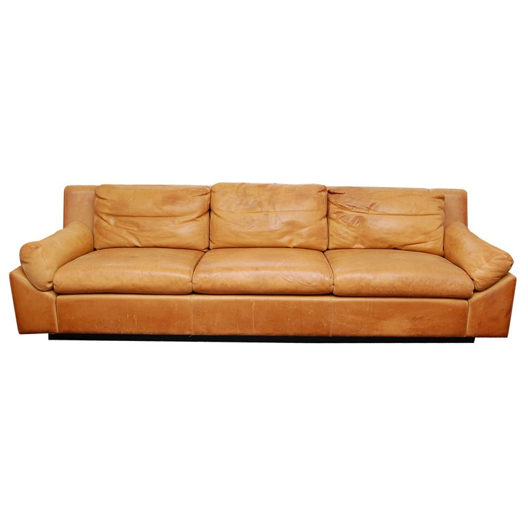 French Leather Sofa At 1stdibs