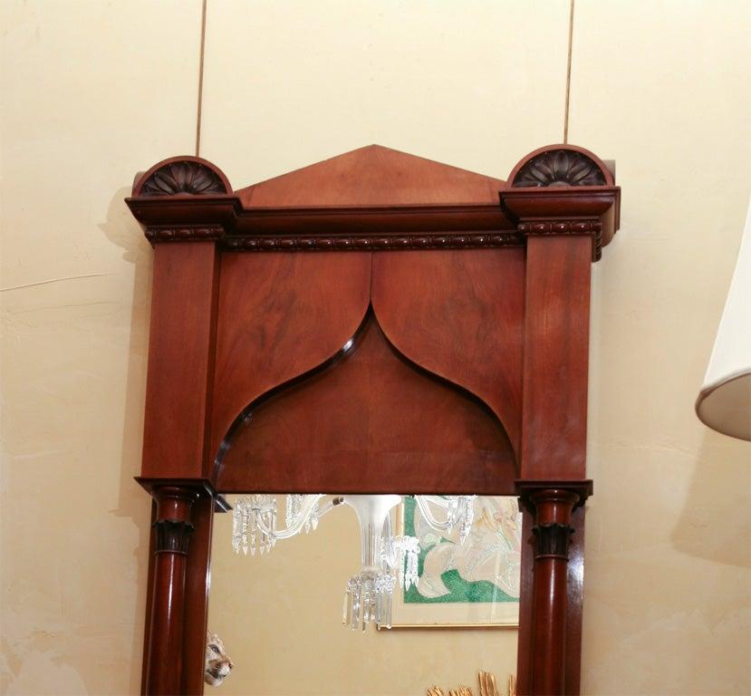 19th Century German Biedermeier Classical Pier Mirror For Sale