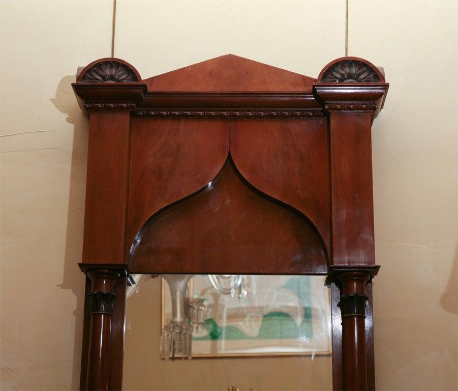 Glass German Biedermeier Classical Pier Mirror For Sale