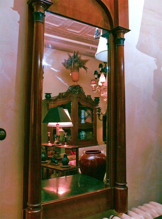 German Biedermeier Classical Pier Mirror For Sale 3