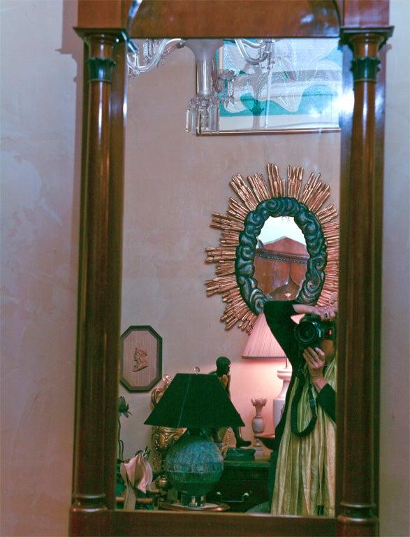 German Biedermeier Classical Pier Mirror For Sale 4