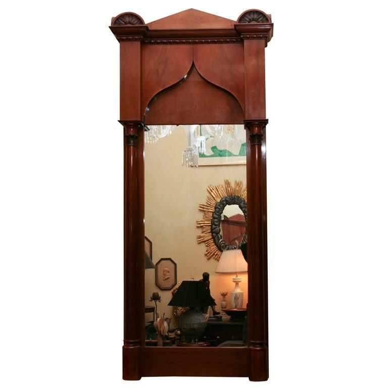 German Biedermeier Classical Pier Mirror For Sale