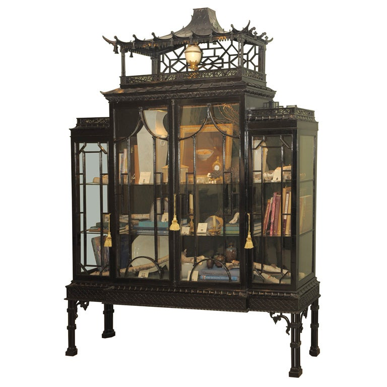 20th century chinese chippendale cabinet on stand at 1stdibs for French furniture designers 20th century