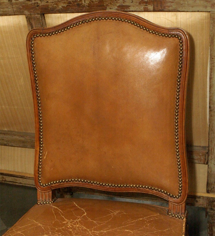 French Set of Six Louis XV Style Dining Chairs For Sale