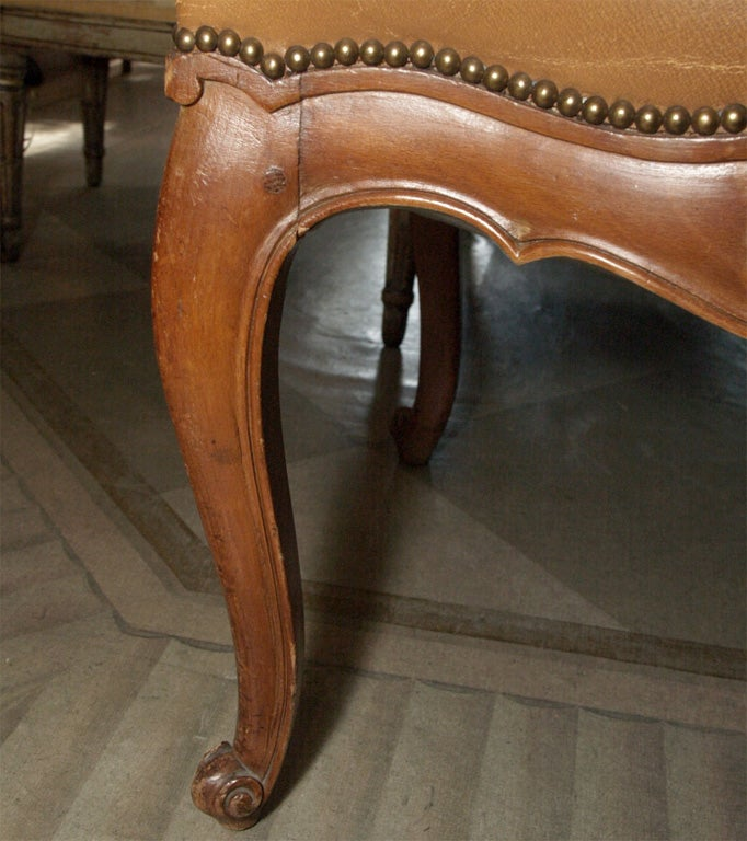 Set of Six Louis XV Style Dining Chairs For Sale 1