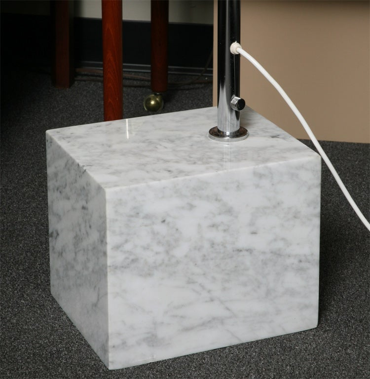 Guzzini Arc Floor Lamp With Marble Base And Illuminating