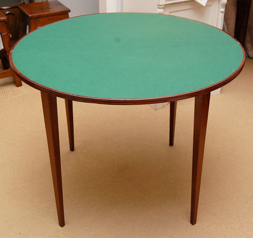 18th century george iii demi lune table at 1stdibs - Table demi lune murale ...