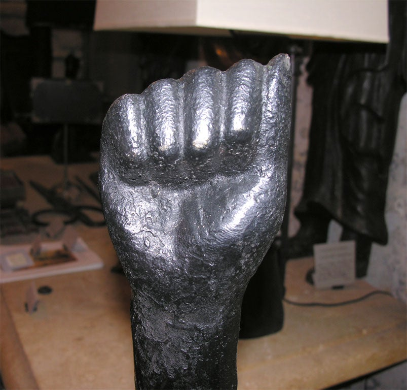 Hand Sculpture In Excellent Condition For Sale In New York, NY