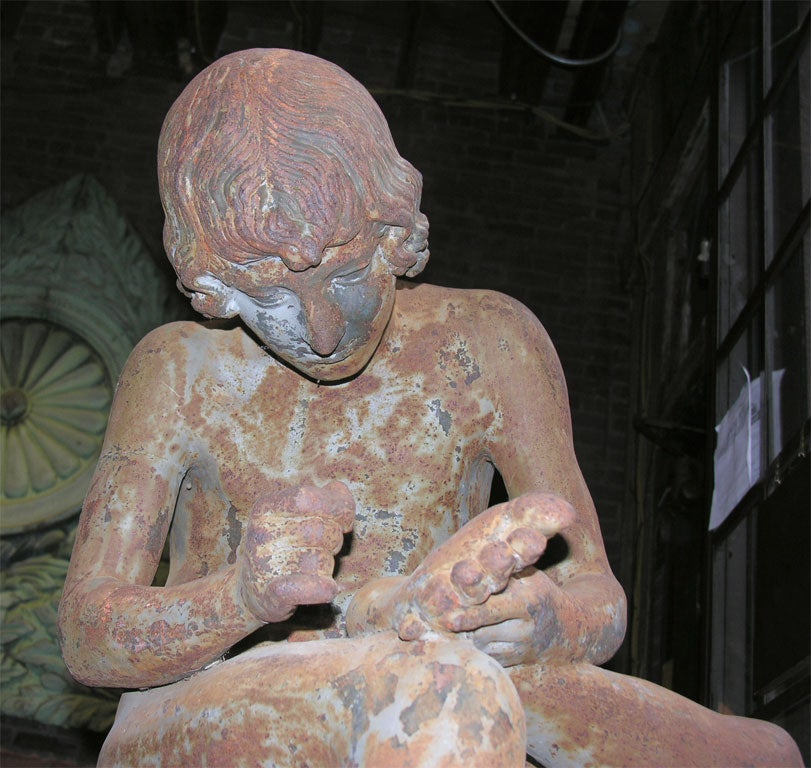Val D'Osne Spinario Figure In Good Condition For Sale In New York, NY