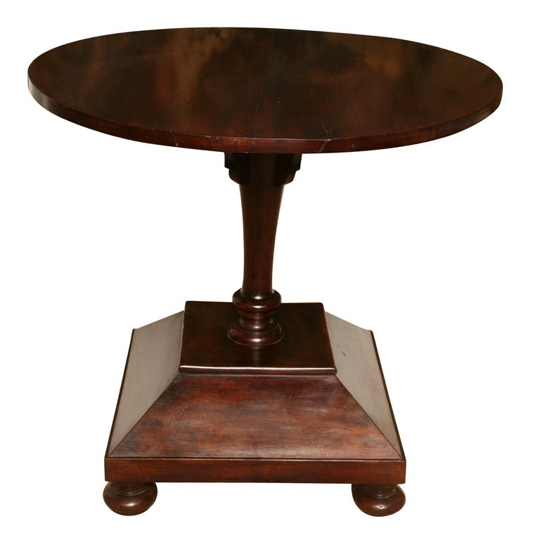 Italian Pedestal Table at 1stdibs